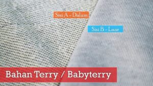 bahan baby terry