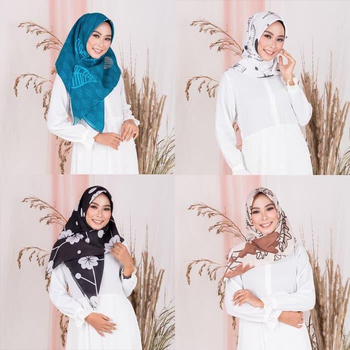 cara memakai jilbab segi empat untuk pesta