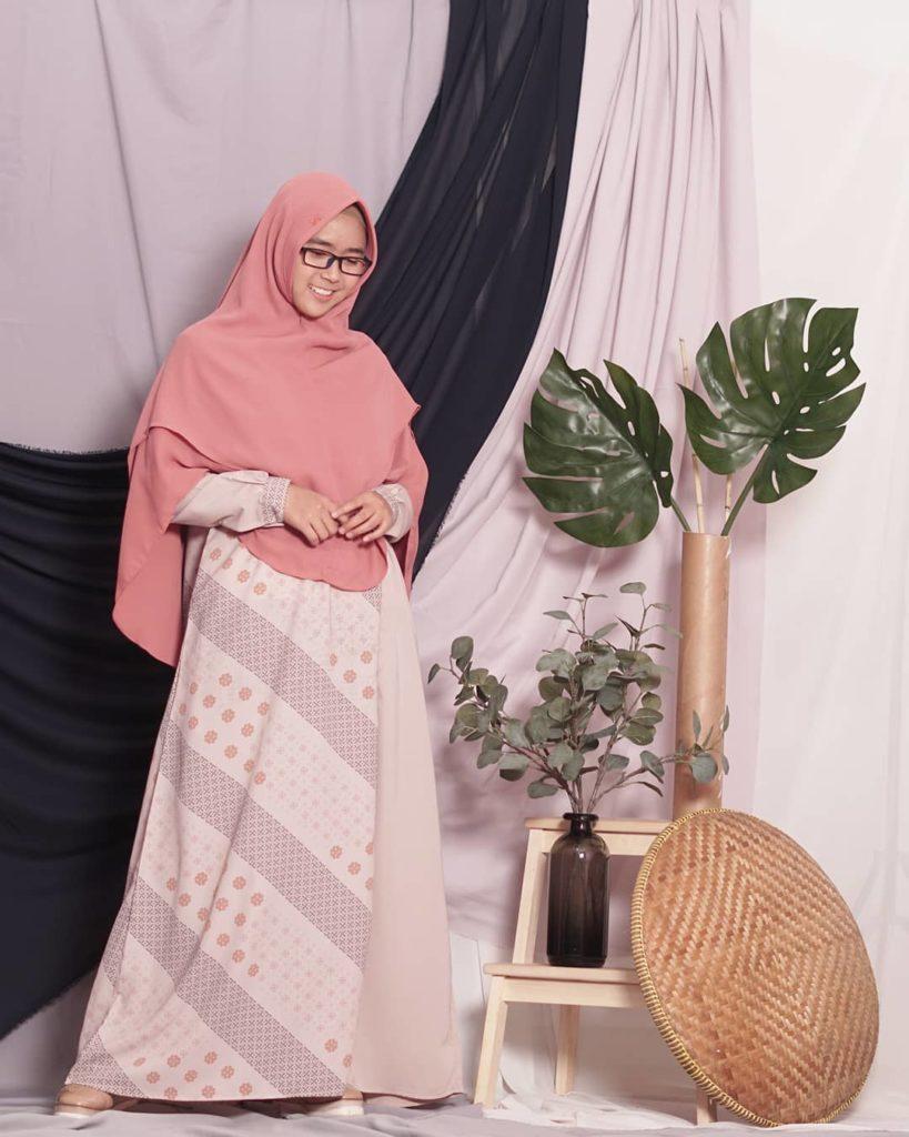 gamis bahan babyterry batik