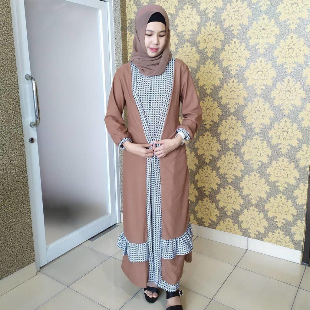 hijab bahan babyterry batik