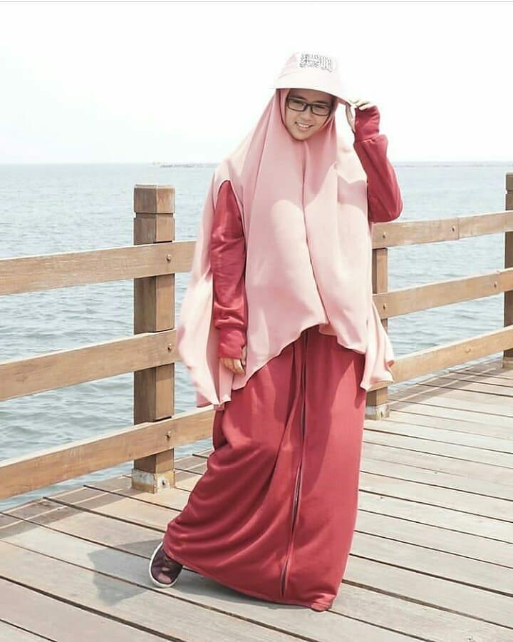 hijab maron babyterry