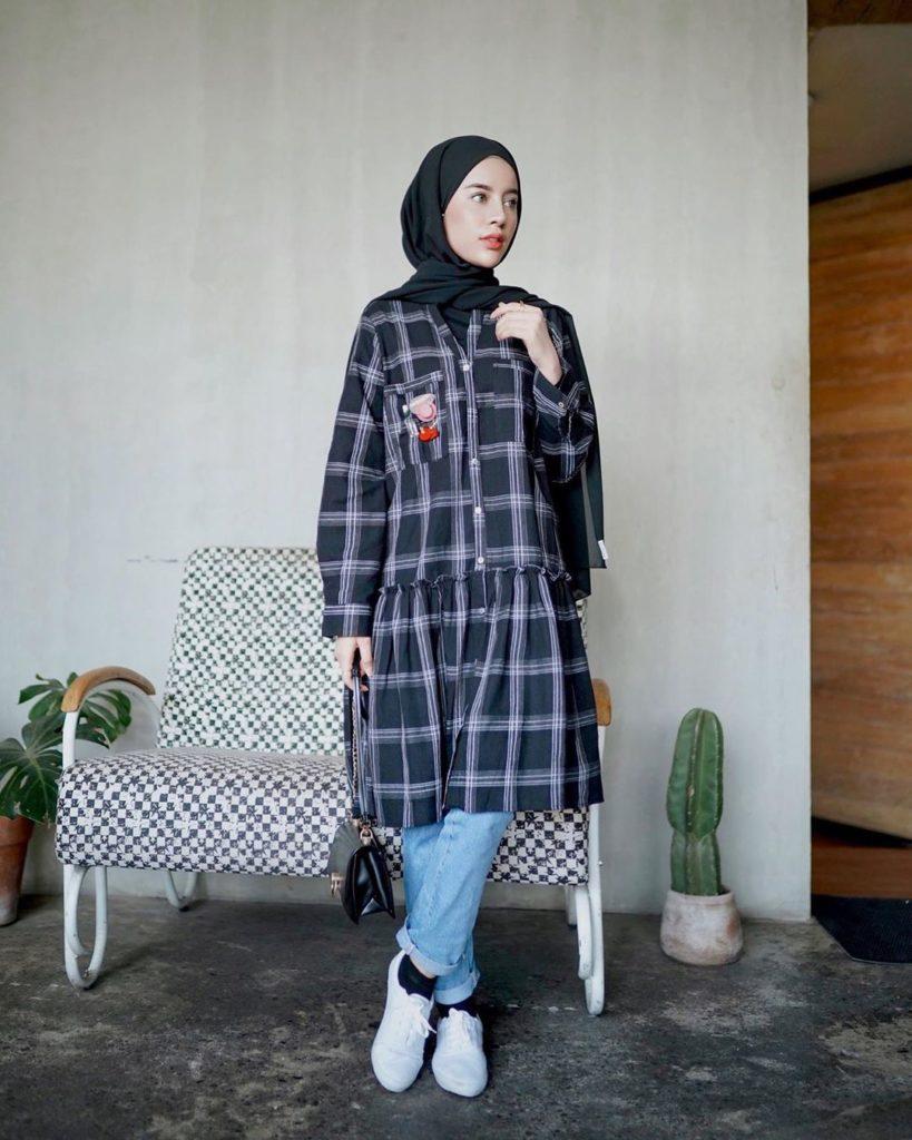 hijab model selendang