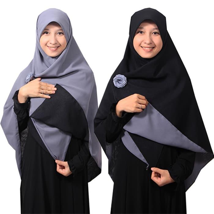 jilbab bolak balik dua warna