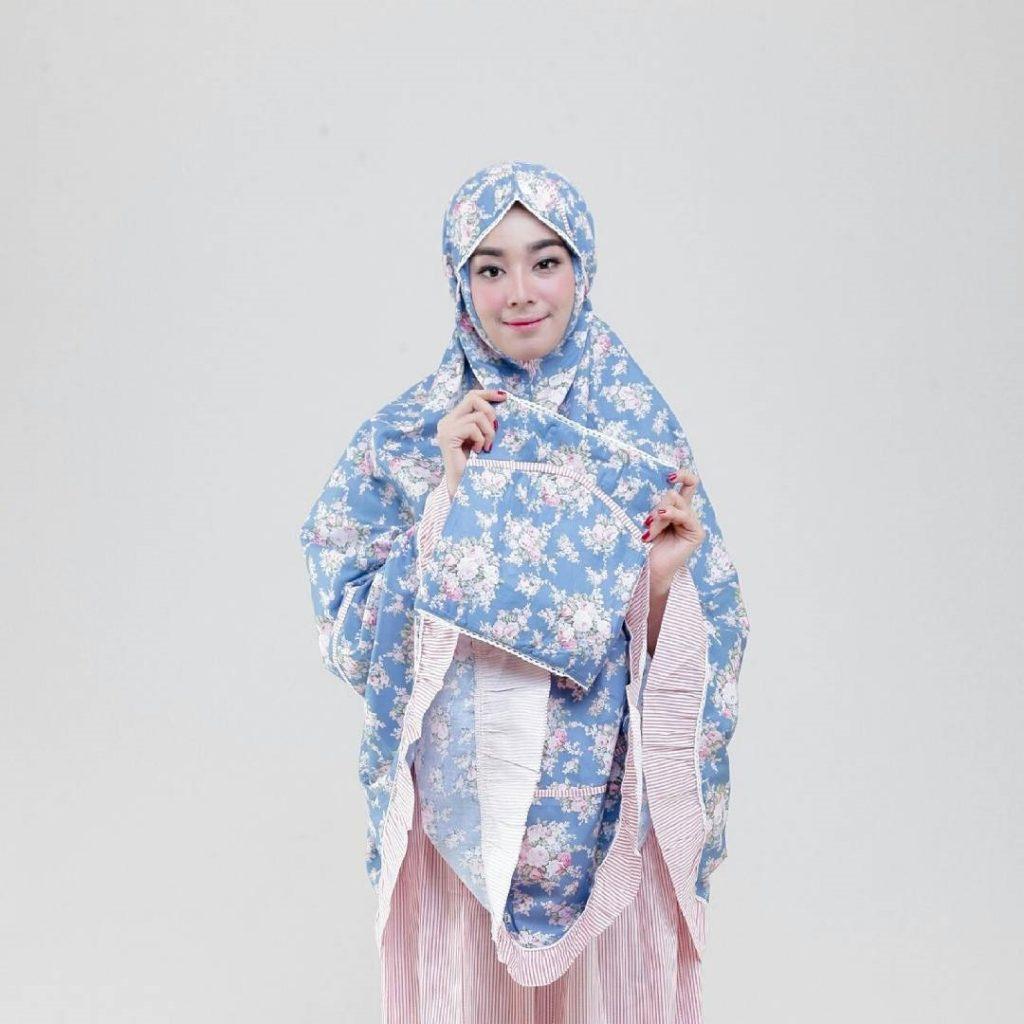 paket mukena prayerset zhafira biru
