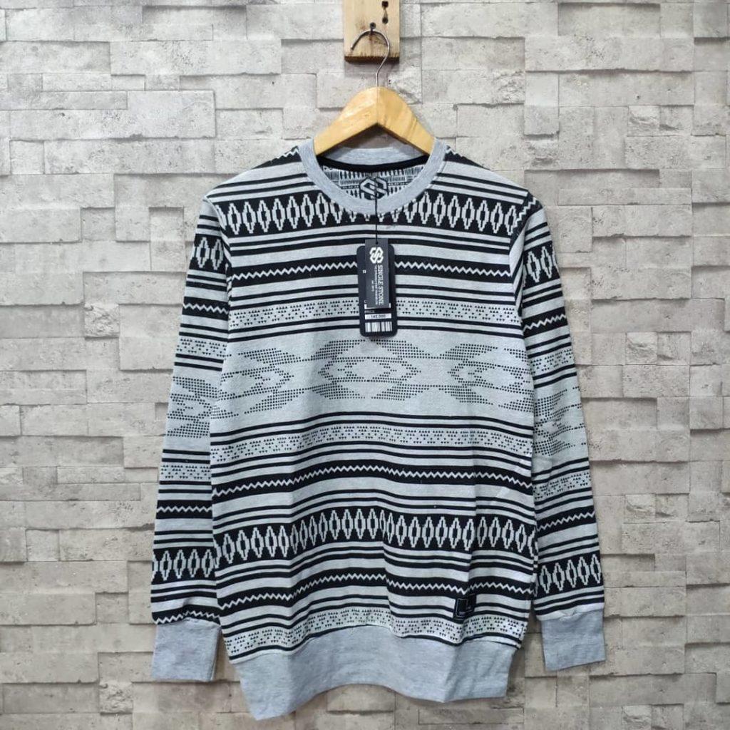 sweater bahan babyterry pria