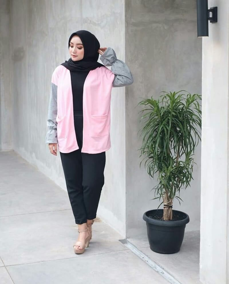 tunik bahan soft babyterry