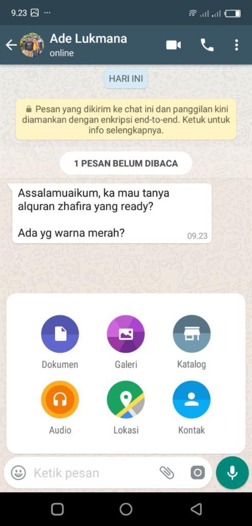 Mengirm Katalog Produk di Whatsapp