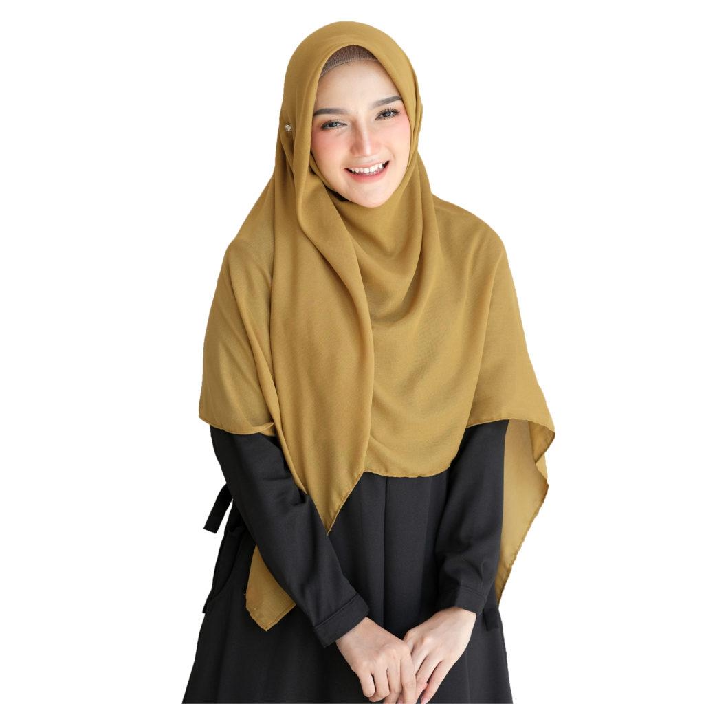 Inilah Hijab Segi Empat Polos Yang Simpel dan Kekinian 1