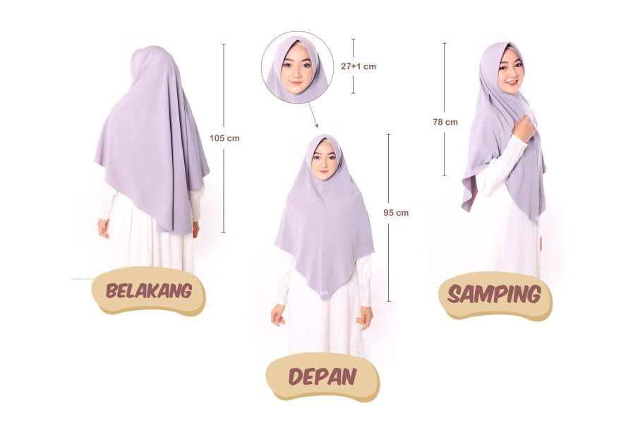 Ukuran Hijab Khimar