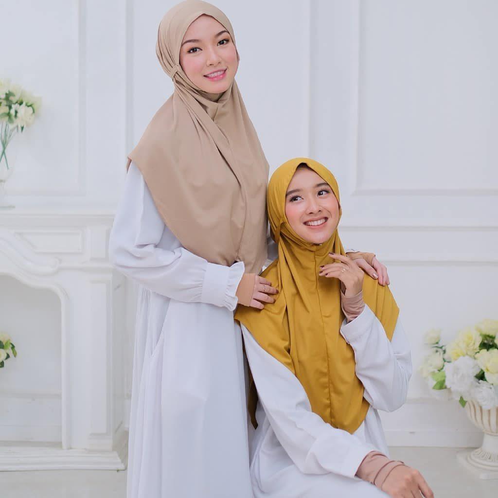 jilbab bergo warna mocca