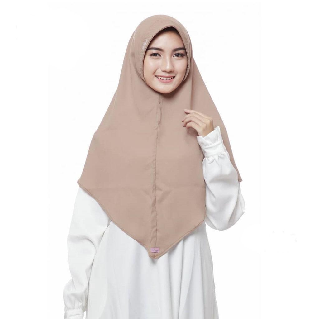 jilbab pashmina warna mocca