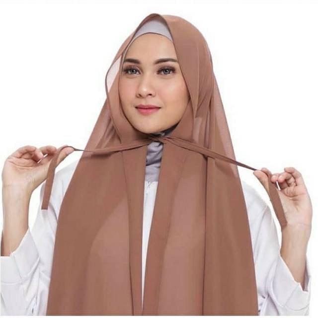 jilbab warna coklat mocca