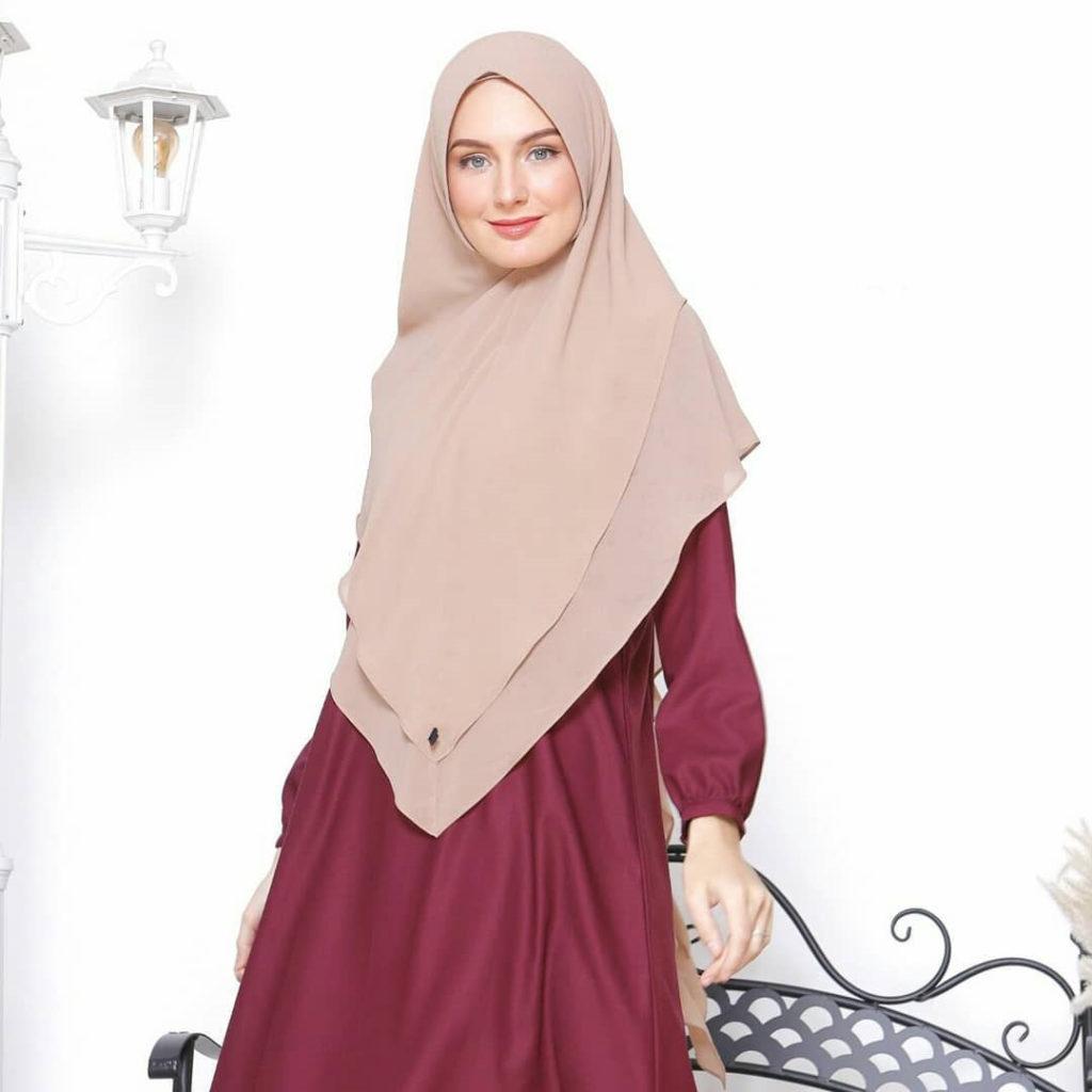 jilbab warna mocca muda