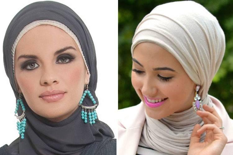 aksesoris hijab di kepala samping