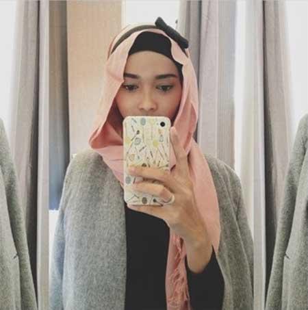 aksesoris hijab headband bunga