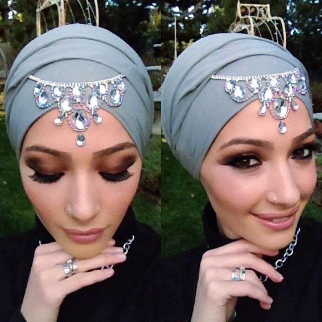 aksesoris hijab pengantin modern
